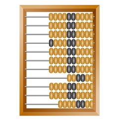 calculating abacus vector image