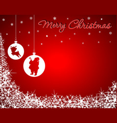 Christmas Background with Santa Baby Reindeer vector image vector image