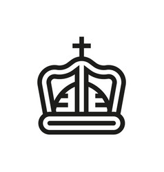 crown icon on white background vector image vector image