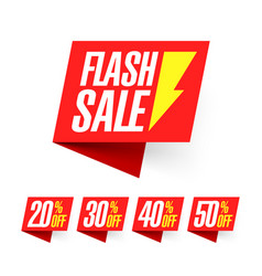 flash sale deal of the day labels vector image vector image