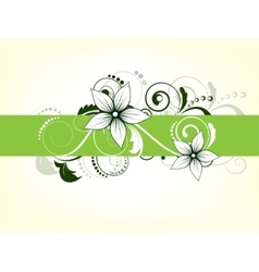 Floral background with flowers and swirls vector image