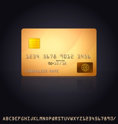 Gold Credit Card Icon vector image vector image
