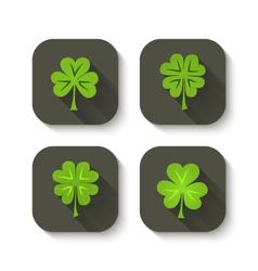 Green clover icons vector