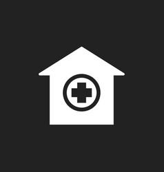 Hospital building icon infirmary medical clinic vector