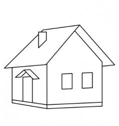 house landscape vector image vector image