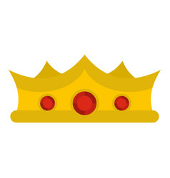 King crown icon isolated vector
