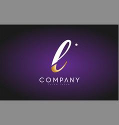 L alphabet letter gold golden logo icon design vector