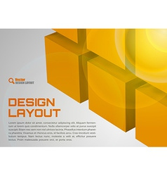 Orange Layout vector image vector image