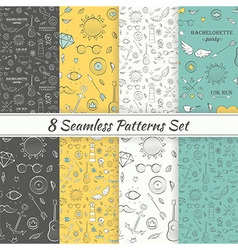 Patterns Sea Summer Hipster Hand Drawn Seamless vector image vector image
