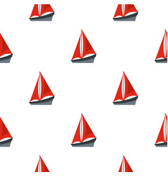 small boat pattern seamless vector image vector image