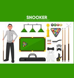 snooker billiards sport equipment pool player vector image vector image