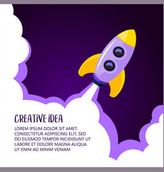 space rocket launch creative idea rocket vector image