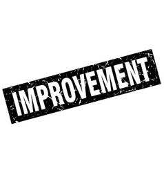 Square grunge black improvement stamp vector