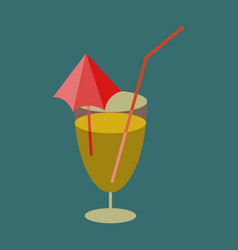 sweet dessert in flat design cocktail vector image vector image
