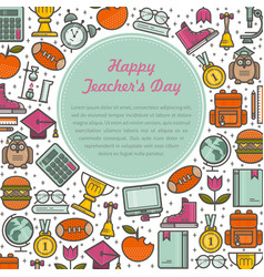 Teacher s day with text vector