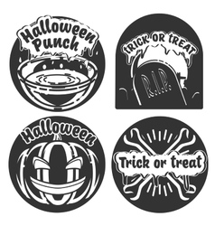 Vintage halloween emblems vector