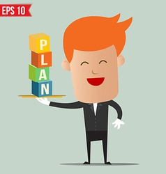 Waiter serving business concept - - eps10 vector