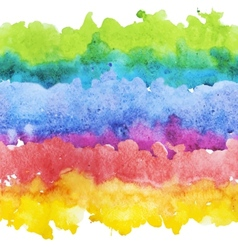 Watercolor colourful stripes vector