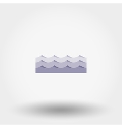 Waves icon vector image vector image
