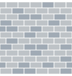 Brick wall seamless pattern grey background vector