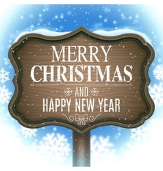 Christmas and new year signboard vector