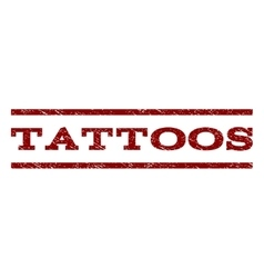Tattoos watermark stamp vector