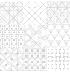 White background seamless pattern vector