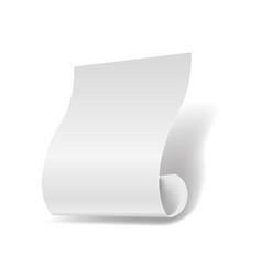 white paper sheet 3d realistic page or manuscript vector image