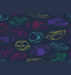seamless pattern with spacecrafts vector image