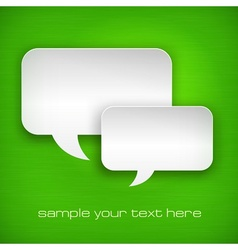 White speech bubbles on green vector