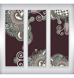 modern ornamental banners template vector image