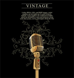 vintage microphone background vector image