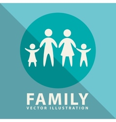 Family label design vector