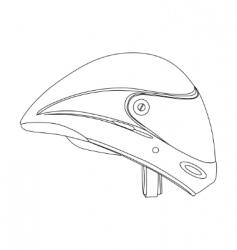 sports helmet vector image