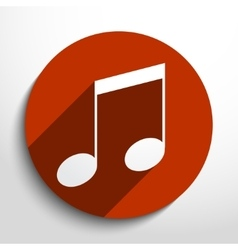 Music note web icon vector