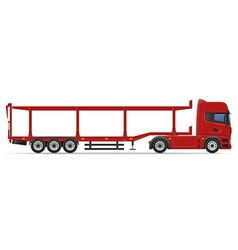 Truck semi trailer 16 vector