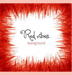 Abstract red grunge background with place for your vector