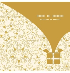 abstract swirls old paper texture Christmas gift vector image vector image