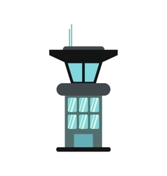 Airport control tower icon vector