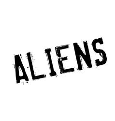 Aliens rubber stamp vector