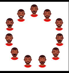 American african men facial expression vector