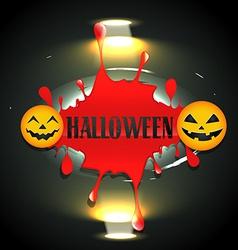 Bloddy halloween design vector