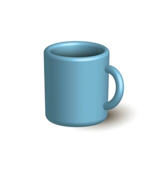 Blue cup vector image vector image