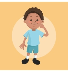 Boy kid cartoon design vector