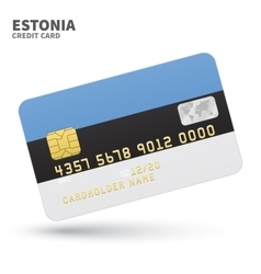 Credit card with Estonia flag background for bank vector image vector image