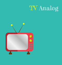 Cute retro tv old tv cartoon style vector