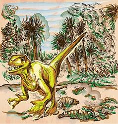 Dino Dinosaurs - An hand drawn Line art vector image vector image
