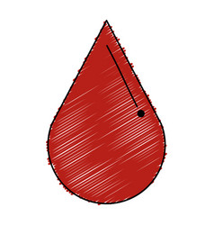 Drop blood isolated icon vector