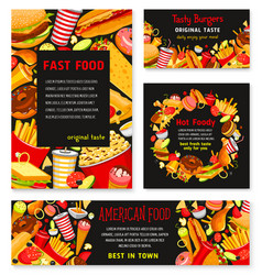 Fast food templates restaurant banner vector