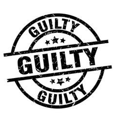 Guilty round grunge black stamp vector
